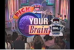 Michael J. Freeman - TV set of Pick Your Brain Game Show