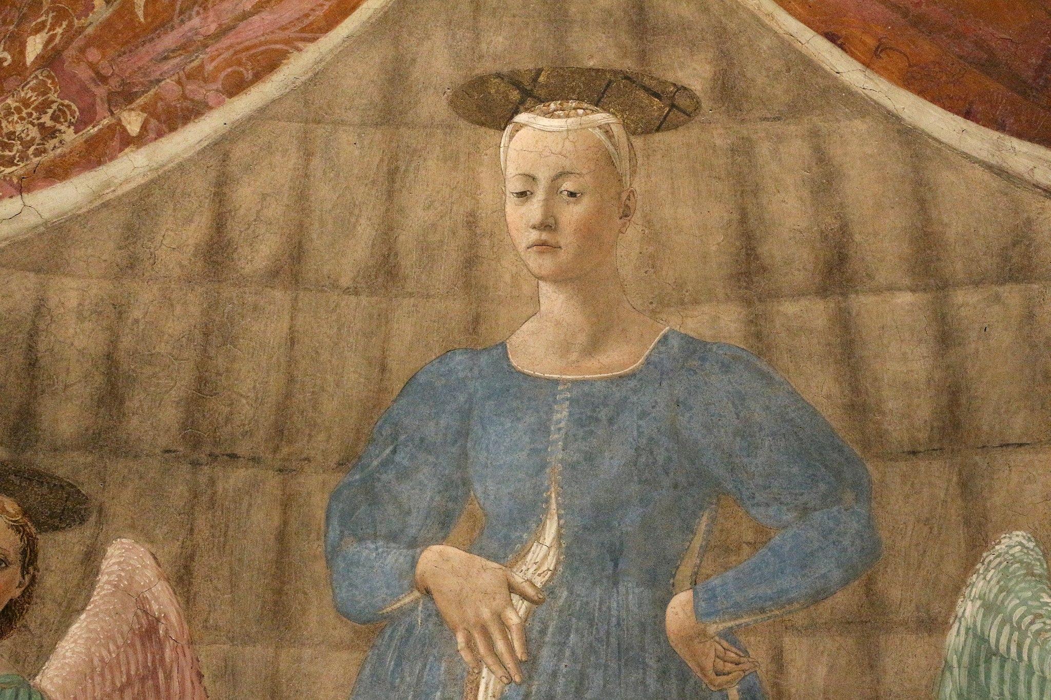 Piero della francesca, Madonna del Parto, 1455 ca. 09