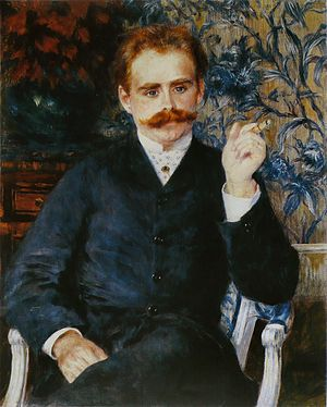 Albert Cahen - Composer Albert Cahen in a portrait by Auguste Renoir, 1881