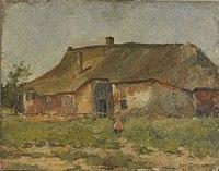 Piet Mondriaan - Farm building in Het Gooi with child - 0334237 - Kunstmuseum Den Haag.jpg