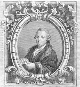 Italian Composer and Violinist. Pietro Nardini, engraving attributed to Giovanni Battista Cecchi (Source: Wikimedia)