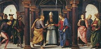 Fano Altarpiece - Image: Pietro Perugino cat 45d