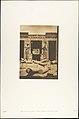 Piliers dans la cour du palais de Rhamsès-Meiamoun, à Médinet-habou (Thèbes) MET DP131898.jpg