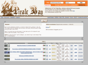 The Pirate Bay - The Pirate Bay in 2005
