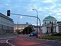 Plac Trzech Krzyży o świcie - panoramio.jpg