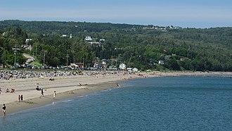 Saint-Irénée, Quebec - Image: Plage st Irénée