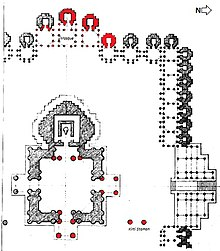 Plan one forth of Rudra Mahalaya Jami Mosque Sidhpur Gujarat India.jpg