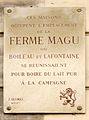 Plaque Ferme Magu, 9 place de Mexico, Paris 16.jpg