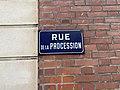 Plaque Rue Procession - Saint-Maur-des-Fossés (FR94) - 2020-08-24 - 1.jpg