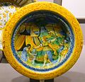 Plate, Italy, Urbino or Pesaro, late 1500s, maiolica - Museum of Anthropology, University of British Columbia - DSC09003.jpg