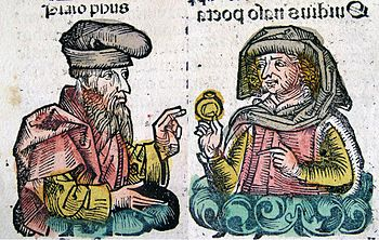 Publius Ovidius Naso and Plato in the Nurember...