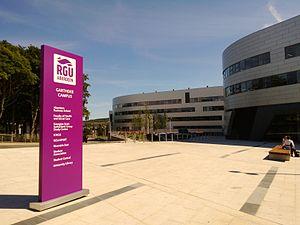 Robert Gordon University - Main plaza at Garthdee campus (2013)
