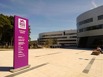 Robert Gordon University - Main plaza at Garthdee campus (2013)