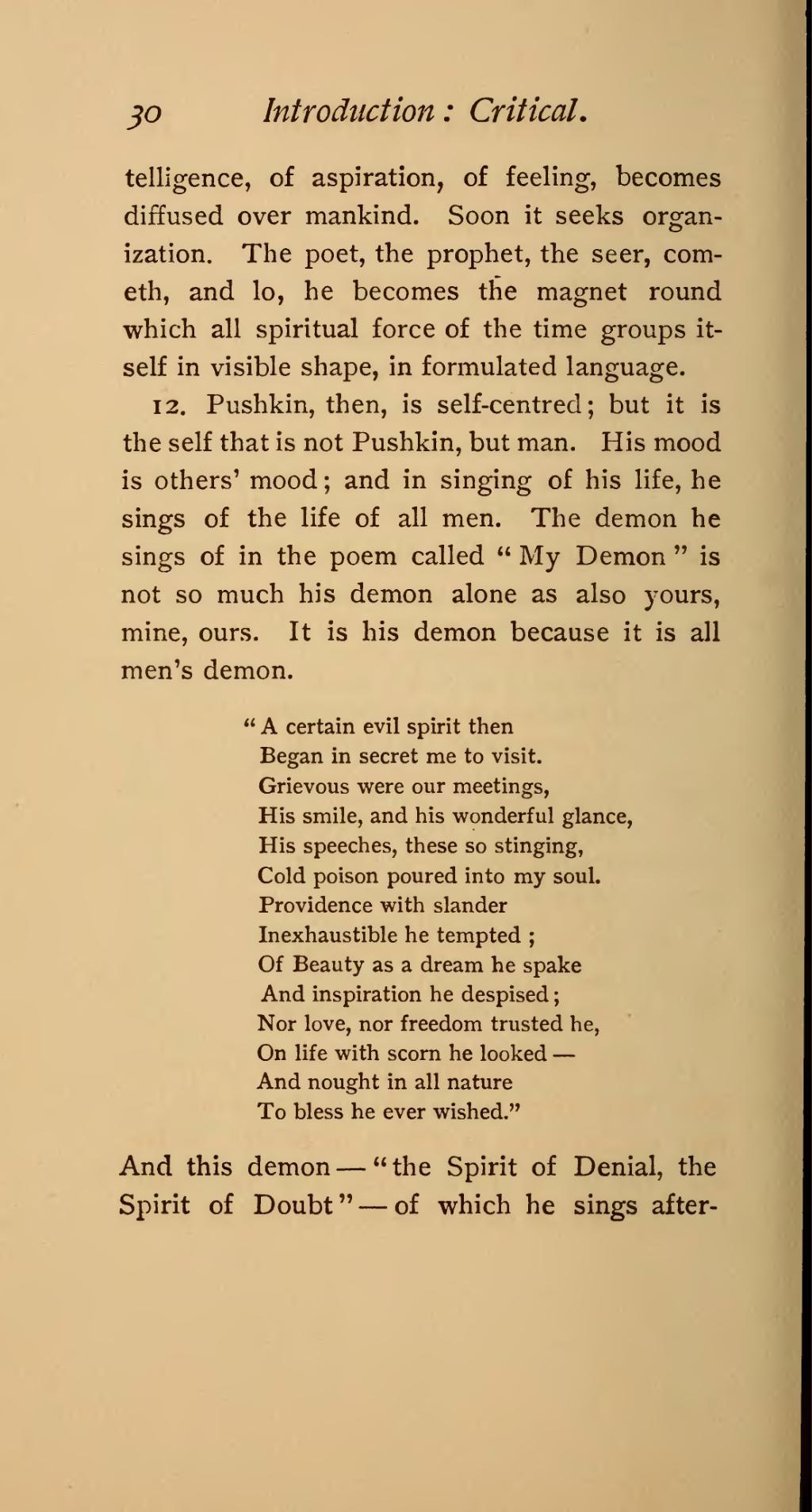 What did Pushkin love 4