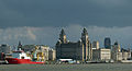 Polar Prince And Liverpool's Three Graces (15487213411).jpg