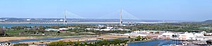 Pont de Normandie -  Panoramic view of the 'Pont de Normandie'.