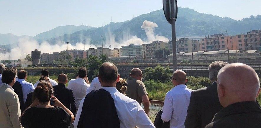 Ponte Morandi abbatimento 28-06-2019
