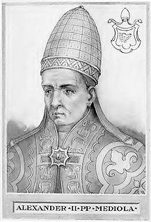Pope Alexander II Bishop of rome