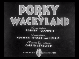 """Bob Clampett - Porky in Wackyland was inducted into the National Film Registry of the Library of Congress in 2000, deemed """"culturally, historically, or aesthetically significant."""""""