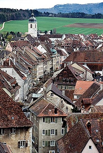 Canton of Jura - Old city of Porrentruy