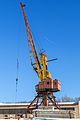 Port crane in Moscow North River Port 10-feb-2015 02.jpg
