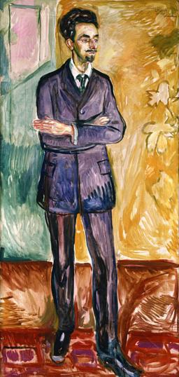 Porträtt av den danske författaren Helge Rode, 1908