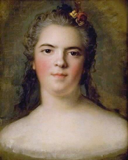 """Portræt af Louise-Elisabeth de France, Louis XV's datter """"Mme Infante"""", hertuginde af Parma (1749) by Jean-Marc Nattier"""