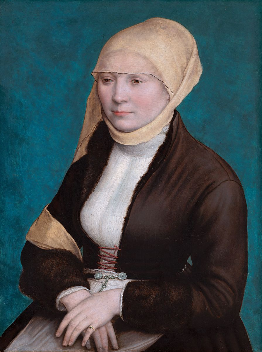 Portrait of a woman from Southern Germany, by Hans Holbein the Younger.jpg