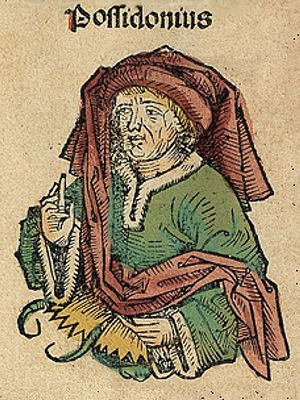 Posidonius - Posidonius, depicted as a medieval scholar in the Nuremberg Chronicle