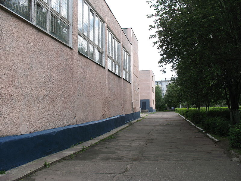 File:Posyolok Kievskiy (view to school front road).JPG