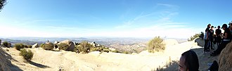 Poway, California - The view west of Potato Chip Rock, on Mount Woodson Trail, including Poway