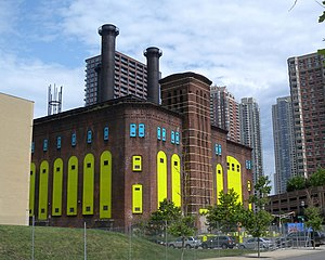 Hudson and Manhattan Railroad Powerhouse - Image: Powerhouse Morgan St JC jeh