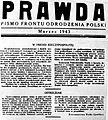 Prawda Front Odrodzenia Polski marzec 1943.JPG