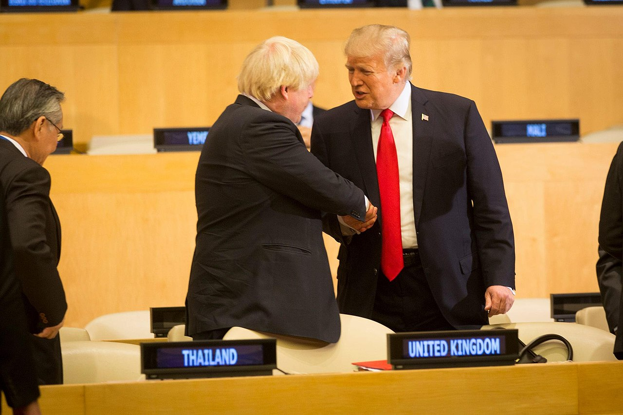 President Donald J. Trump and the British Secretary of State for Foreign and Commonwealth Affairs Boris Johnson (37425398262).jpg