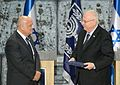 President Reuven Rivlin, receives the official election results of the Israeli legislative election, 2015. Wednesday, March 25, 2015.jpg