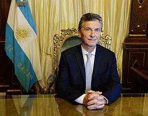 Presidente Macri en el Sillón de Rivadavia