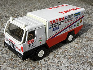 Kaden models - A later Kovap / KDN Tatra 815 exploration-rally truck in pressed tin.