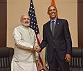 Prime Minister Narendra Modi meeting US President Barack Obama on the sidelines of the 11th East Asia Summit.jpg