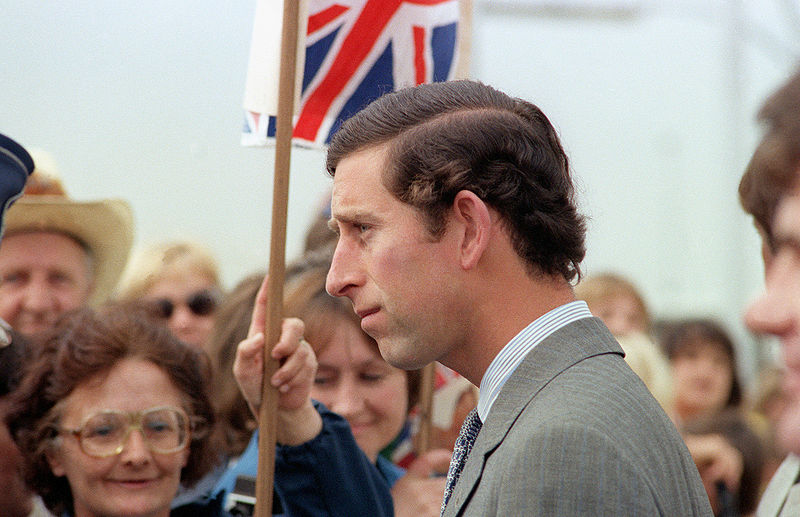 Prince Charles arrives at Andrews Air Force Base in the United States, 1981.jpg