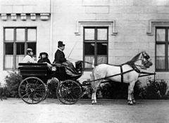 Princess Louise Caroline Alberta, Duchess of Argyll, Princess Beatrice of Battenberg and Queen Victoria driving by Henry Joseph Whitlock.jpg
