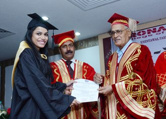 Kasturi Lal Chopra - Image: Prof Chopra as Chief Guest at DCE presenting an award to a student
