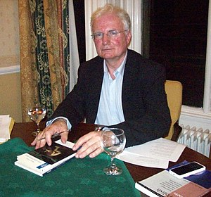 Michael O'Neill (academic) - Michael O'Neill signing a copy of The Stripped Bed in 2007.