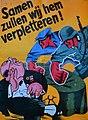 Propaganda Poster SS-Freiwilligen-Grenadier-Division Langemarck met anti-Semitisch opschrift Samen zullen wij hem verpletteren!.jpg