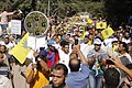 Protesters with R4bia sign in Maadi-Cairo 20-Sep-2013.jpg