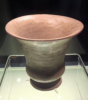 Proto-celadon - Proto-celadon Zun wine vessel, Shang period, 16-11th century BCE.