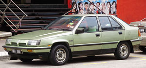Proton Saga - 1990–1992 Proton Saga (Megavalve) Aeroback hatchback