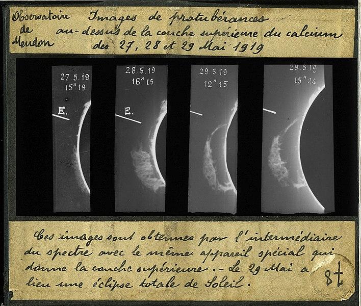 ProtuberanceEruption 19190529 MeudonSpectroheliograph