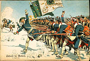 Prussian Army during battle of Mollwitz 1741