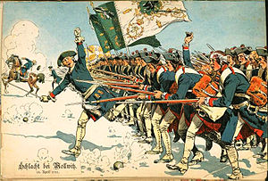 Prussian Army during battle of Mollwitz 1741.jpg