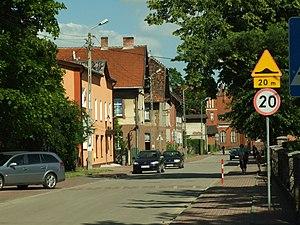 Pszczółki, Pomeranian Voivodeship - A street in Pszczółki